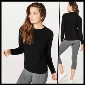 Lululemon simply wool black merino sweater